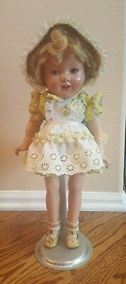 """Vintage Miss Charming? Horseman? Shirley Temple Look-alike Composition Doll 19"""""""