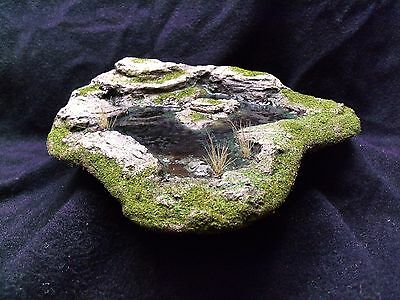 Pre-Painted Rocky Pond Terrain Piece Warhammer 40K, D&D terrain and scenery