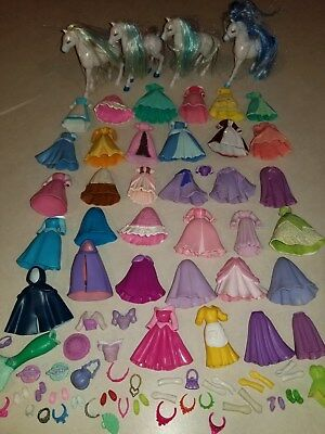 Disney Polly Pocket Princess Jasmine Doll Fashion Gown Clothes Shoes Lot