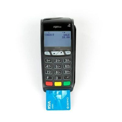 Ingenico iCT220 Credit Card Terminal with Chip Reader Dual Comm Cable