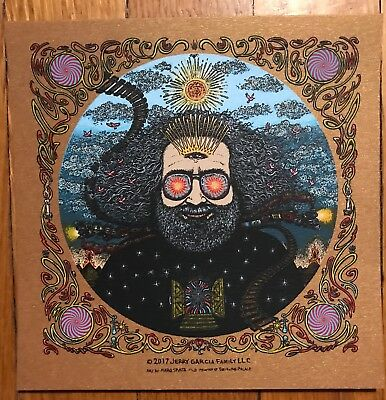 Jerry GARCIA Marq SPUSTA Bicycle Day 2017 MINI Copper shimmer art print MINT