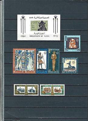 Middle East -  Egypt mnh stamps an sheets Pharaohs