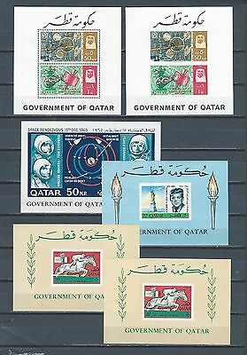 Middle East Qatar SPACE - JFK - 6 mnh stamp sheets with REVALUED sports