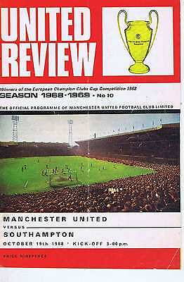 MANCHESTER UNITED	V	SOUTHAMPTON	19	Oct	1968	Programme