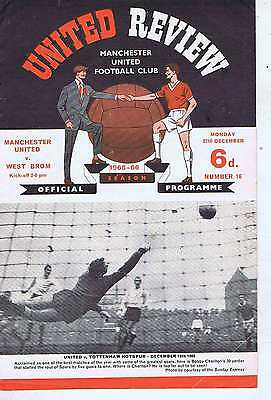 MANCHESTER UNITED	V	WEST BROMWICH	27	Dec	1965	Programme