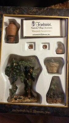 Fontanina Nativity Village Accessory, Vineyard New In Box As Pictured