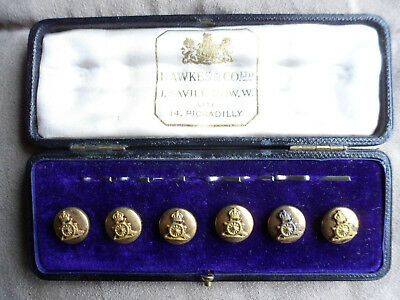 Royal Artillery Cased Set of 6 Mess Kit Pre '50's 13mm Diameter Buttons