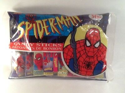 Spider-Man 1996 Unopened Candy Sticks Bag of 36 Boxes