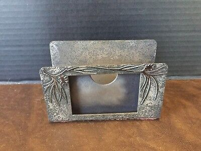 Heintz Art Metal Sterling On Bronze Arts And Crafts Calendar Letter Holder