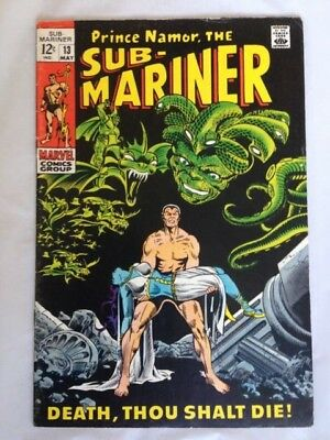 Sub-Mariner 13 (1969) Marvel Silver Age 12 cents! Death Of NAGA! PRICED TO SELL!