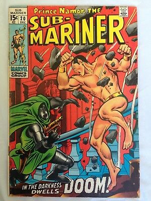 Sub-Mariner 20 (1969) Marvel Silver Age 15 cents! Doctor Doom!  PRICED TO SELL!!