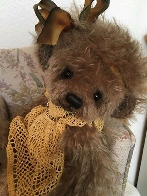 """""""charlotte"""" A Sweet Curly Mohair Bear By~ Bonnie Foster ~ One Of A Kind Creation"""