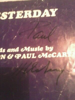 """Autographed Paul McCartney 1965 Songbook """"Yesterday"""""""