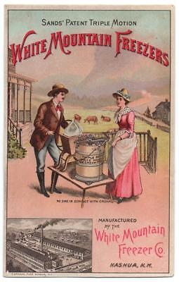 White Mountain Freezers Co. trade card   Churning for Ice Cream  San Francisco