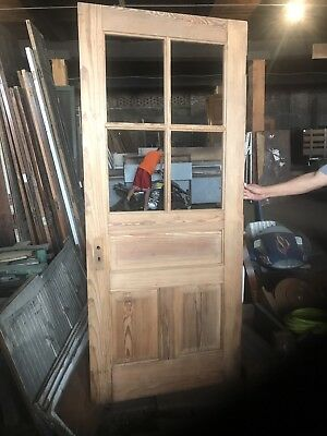 Antique Farmhouse Exterior Pine Door Architectural Salvage 2 Avail Track Door
