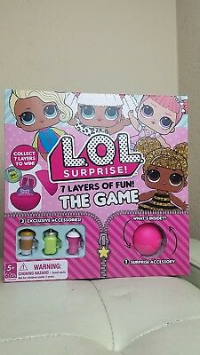 LOL Surprise Board Game with Doll Accessories 7 Layers of Fun