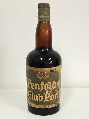 Collectable Vintage 1956 Penfolds 5 Star Club Port