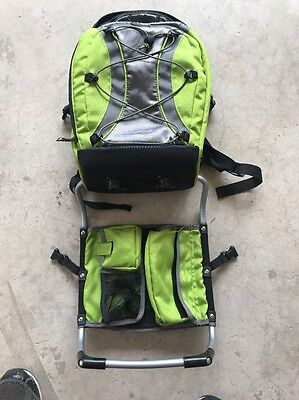 Fisher Price Active Gear Backpack Carrier Green Stand Child Kid toddler