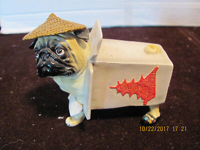 Pugnacious Chinese Food Container Chinese New Year  Pug Perfect Condition
