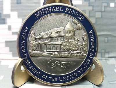 Very Rare! Engraved Autograph, Vpotus - Vice President Mike Pence Challenge Coin