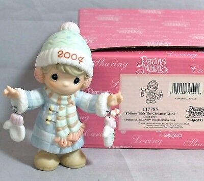 Precious Moments S'Mitten With The Christmas Spirit 117785 With Box