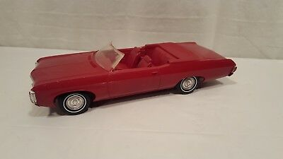 1969 Vintage AMT Chevy Impala SS Convertible Dealer Promo Garnet Red