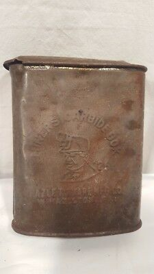 RARE 1926 Antique Miners Carbide Box Hazle Tinware West Hazleton Pa Pennsylvania