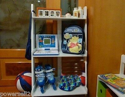 Environmentally Large Capacity White Display Storage Rack Shelf For Children