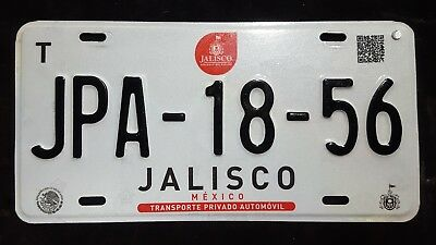 Jalisco Mexico license plate