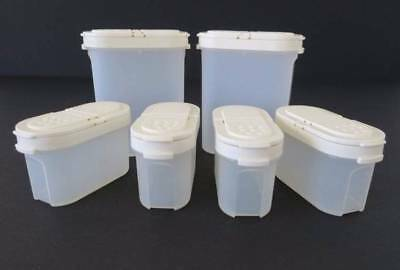 Tupperware Spice Containers Clear with Cream Seal Set of 6