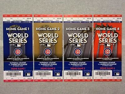 Chicago Cubs | 2017 World Series Phantom Ticket Stub