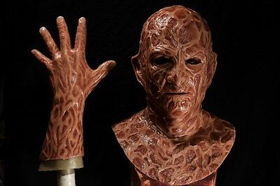 Halloween freddy silicone mask hand incubus deluxe flesh version