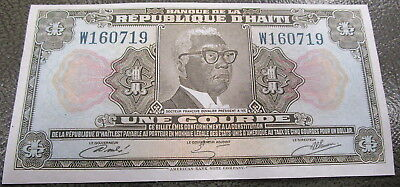 Une Courde From Republic of Haiti crisp appears Uncirculated bill