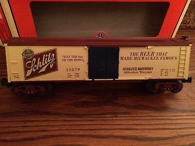 Lionel 15079 Schlitz Wood-Sided Reefer New in Box!