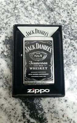 "New Zippo lighter ""Jack Daniels Old No 7"" Street Chrome Finish Gift Boxed"