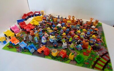 Fisher Price Little People RECENT PEOPLE ANIMALS CAR ACCESSORIES LOT 107 pieces