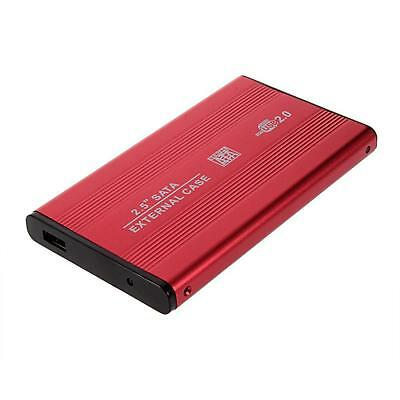 External USB 2.5 Inch Hard Drive Case Enclosure SATA HDD SSD USB 2.0 Red  ED