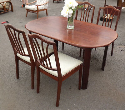 Vintage Dining Table & 4 Stand Chairs Mahogany Solid. Cheap Starter (Coll & Del)
