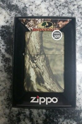 "New Zippo lighter ""Mossy Oak"" Camouflage break up Finish Gift Boxed"