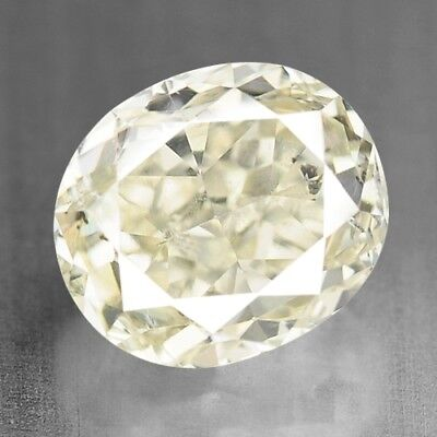 Diamond Fancy White Yellow Oval 0.35 cts Loose Diamond Fancy Natural F599