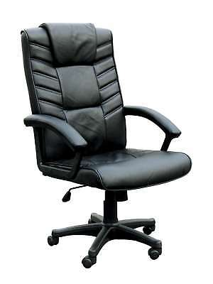 ACME Furniture Chesterfield Collection - Black Bonded Leather Office Desk Chair