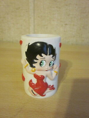 Acrylic Betty Boop Small Round Container