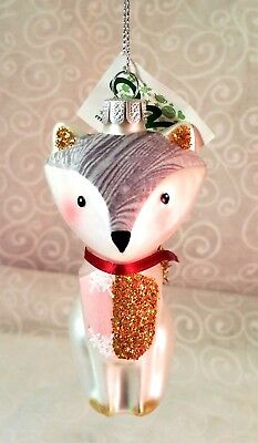 Glass Squirrel Ornament Bushy Gold Tail - Midwest Cannon Falls - New W Tag!