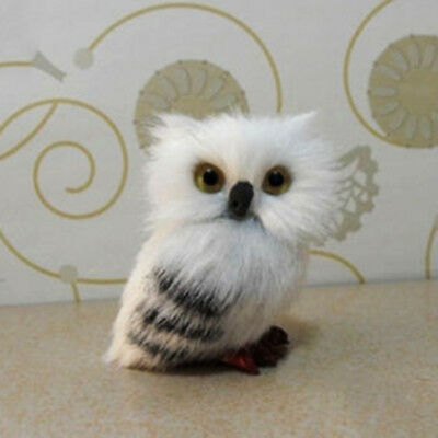 Mini Harry Potter Realistic Hedwig Owl Toy Desk Decoration Christmas Gift