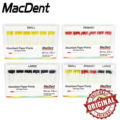1 Box Dental Gutta Percha Ponits Absorbent Paper Points Tips MacDent 100%