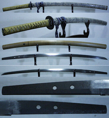 K:JAPANESE SWORD, 2nd MORITAKA of NANBOKUCHO w Koshirae of Shark skin saya,NTHK