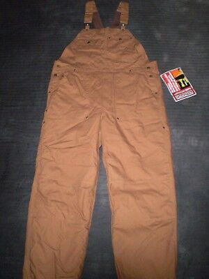 Mens Bib Overalls Size L 42-44 NWT Removeable Lining Cotton Duck Heavy Duty Work