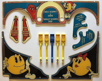 * Original Baby Pac-man Pinball Plastics Set & Drop Target Set