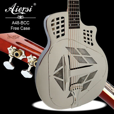 Tricone Acoustic Blues Slide resonator Cutway  Brass Steel body Guitar A48BCC