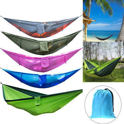 Outdoor Camping Travel Tent Hanging Hammock Bed Sleeping Swing&Mosquito Net lot